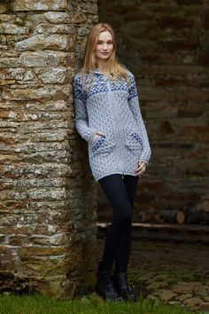 Aran Jacquard Cardigan by Natallia Kulikouskaya for Arancrafts of Ireland