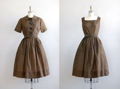 1950s dress / gingham dress / Jerry Gilden