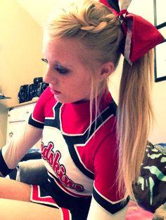 Cheer hair so cute!