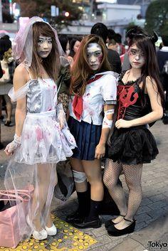 Halloween 2014, Shibuya, Tokyo. tons more photos here: https://www.flickr.com/photos/tokyofashion/sets/72157648605936290/ || 31 October 2014 | #couples #Fashion #Harajuku (原宿) #Shibuya (渋谷) #Tokyo (東京) #Japan (日本)