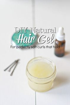 Homemade Natural Hair Gel Recipe Homemade natural hair gel gives you soft, beautiful curls that hold, without weighing hair down. This natural hair gel is my favorite DIY beauty product. Homemade Hair Gel, Diy Hair Gel, Diy Hair Care, Homemade Beauty, Homemade Shampoo, Natural Hair Gel, Natural Haircare, Natural Beauty Tips, Natural Hair Styles