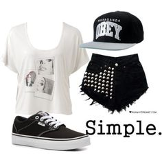 Simple outfit that would look great in summer Nike Outfits, Vans Outfit, Hip Hop Outfits, Swag Outfits, Outfits For Teens, Summer Outfits, Casual Outfits, Matching Outfits, One Direction Louis