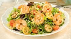 Get inspired with this authentic, flavorful Wish-Bone® recipe: Honey Mustard Shrimp Salad Spicy Honey, Sweet And Spicy, Turkey Prep, Shrimp Salad, Shrimp Pasta, Honey Mustard Dressing, Honey Recipes, Food Words, Oven Cooking