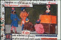 """""""Iô et ses élèves""""  Christine de Pisan, Epître d'Othéa, La Haye, Bibliothèque Meermanno, KB74G27 1450-1475"""