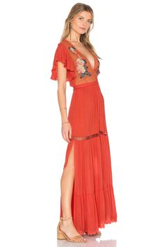 Cleobella Amery Maxi Dress in Coral   REVOLVE
