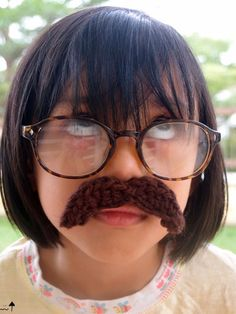 Malaysian Handmade Crafts- The Kawaii Geek.: ⊱✿ Crochet Bos Mustache Costume Quick 101 Pinkyfrogshop FREE Crochet Pattern ✿⊰