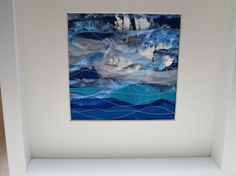 Seascape Textile Art Picture Mixed Media Blue by KBrownJewellery, £28.00 check out www.kbrownjewellery.etsy.com for quirky brooches, quality jewellery and quite amazing textile art