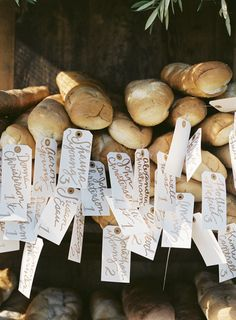 French bread escort cards