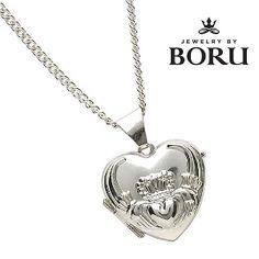 Boru Sterling Silver Irish Claddagh Locket  http://www.squidoo.com/beautiful-belleek-harp-irish-blessing-plate