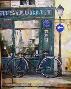 Paris bicycle 80x65 oil on canvas 2003