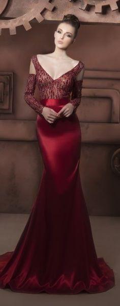 Hassan Mazeh evening dress ~Latest Luxurious Women's Fashion - Haute Couture - dresses, jackets. bags, jewellery, shoes etc
