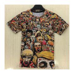 Summer Styles T-Shirt New The Walking Dead Men T Shirts Walker Skull Zombies High Quality Crewneck Top Tees Short Sleeve Tshirt. The Walking Dead, Walking Dead T Shirts, Zombies, Zombie High, Dead Zombie, Memes Exo, Zombie T Shirt, 3d T Shirts, Kpop