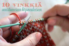 Neuvoja kirjoneuleen tekoon Knitting Wool, Fair Isle Knitting, Knitting Charts, Knitting Patterns, Knit Or Crochet, Crochet Stitches, Knitting Projects, Handicraft, Diy Clothes