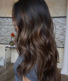 Brown Hair Colors Ideas For Winter Gray Hair Sytles - Brown Hair Colors Ideas For Winter By Admin Posted On Gorgeous Long Shiny Hair Is A Sign Of Good Health Feminine Wellbeing Beautifulhair Posted In Balayage Hair Tagged Balaya Brown Hair Balayage, Hair Color Balayage, Dark Brunette Balayage Hair, Brown Balyage, Brunette Hair Colors, Haircolor, Babylights Brunette, Brunette Hair Color With Highlights, Balyage Hair