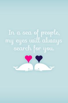 In a world full of beautiful people having eyes just for the one we love it's a respect and faithfulness thing.......