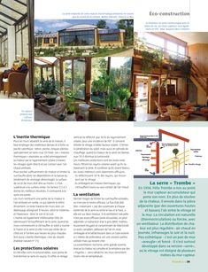 Une serre bioclimatique pour chauffer la maison bulle ! | Eco Construction, Pergola, Earthship, Habitats, New Orleans, Tropical, Architecture, Plants, House