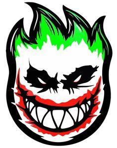I like the color design of the picture Skateboard Logo, Skateboard Design, Joker Logo, Joker Kunst, Madara Wallpapers, Graffiti Characters, Skate Art, Joker Art, Joker And Harley