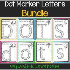 These simple worksheets make it easy to practice letters.