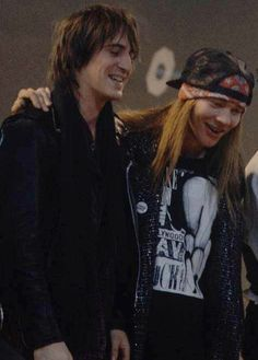 Axl Rose and Izzy Stradlin of Guns N' Roses, late '80s #axlrose #waxlrose #gnr…