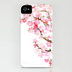 Watercolor Cherry Blossoms iPhone & iPod Case