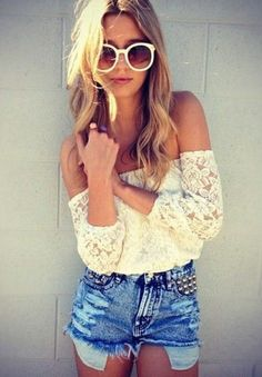 Boho Festival Ready Lace Top - and a cute outfit idea!