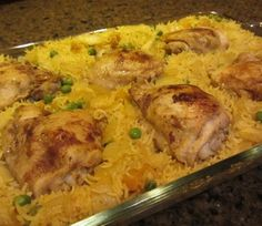 Chicken, Rice, and Spices Bake
