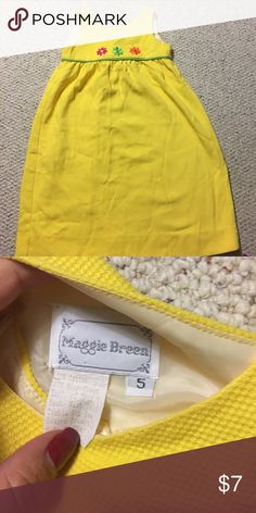 Yellow kids dress Super cute kids bring dress, gently worn maggie breen Dresses Casual