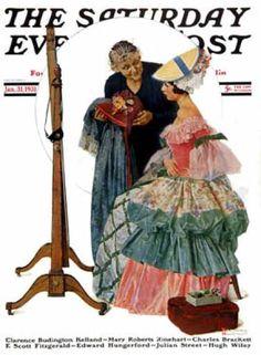 "Saturday Evening Post - 1931-01-31: ""Dressmaker"" (Norman Rockwell)"