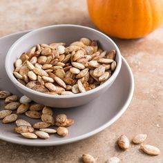 Pumpkin-Pie-Spice-Roasted Pumpkin Seeds Recipe - Todd Porter and Diane Cu   Food&Wine