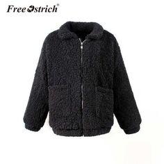 Faux Fur Collar Coat, Faux Shearling Coat, Winter Jackets Women, Coats For Women, Warm Coat, Fur Jacket, E Design, Fur Bomber, Bomber Jackets