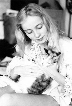 Cheryl and a cat