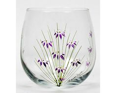 painted stemless glasses | Hand Painted Dishwasher Safe 17 oz Stemless Red Wine Glass in the ...