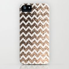 Glitter Sparkly Bling Chevron Pattern (champagne) iPhone & iPod Case by The BeezKneez