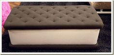 Carly's bedroom seat that looks like an ice cream sandwich. lol
