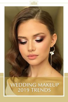 make-up 2019 Trends . Bruiloft make-up 2019 Trends . Bruiloft make-up 2019 Trends . Best Wedding Makeup, Natural Wedding Makeup, Wedding Makeup Looks, Wedding Beauty, Make Up Looks Wedding, Vintage Wedding Makeup, Dramatic Wedding Makeup, Wedding Makeup For Brown Eyes, Simple Bridal Makeup