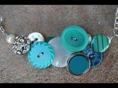 Button Necklace DIY- Whitney Sews - YouTube