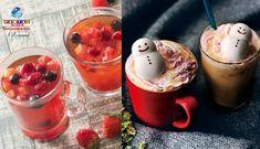 Os graciosos e saborosos bonequinhos de neve de marshmallow voltaram nesta temporada, junto com um chá multicolorido de frutas vermelhas.
