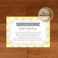 You Are My Sunshine Baby Shower Bring a Book by MamaMoonlights