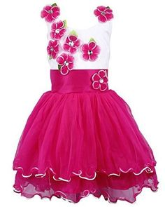 ae317bdce Wish Karo Party wear Baby Girls Frock Dress DNfe195bpnk - fe195bpnk-3-4 Yrs