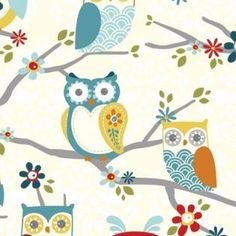 Perched Owls Charcoal | Stoffenmie