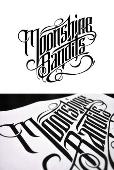 Moonshine Bandits: Custom Lettering by Pale Horse
