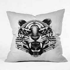 Three Of The Possessed Tiger 4040 Throw Pillow