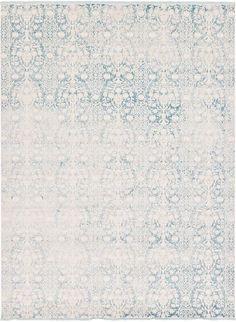 Light Blue 10' x 13' New Vintage Rug   Area Rugs   eSaleRugs