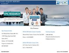 Daily equity report by epic research of 30 june 2017  Last trading session NIFTY Future close on lower note for the first time in last seven consecutive series, last session nifty open gape up but shown profit booking at higher level,also broader markets underperformed and ended on lower side.
