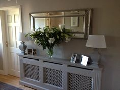 Hallway mirror ideas hallway decorating hall table and mirror ideas entry way mirror entryway table and mirror Hall Mirrors, Entryway Mirror, Entryway Tables, Hallway Sideboard, Hallway Shelf, Hallway Cabinet, Long Hallway, Flur Design, Minimalist Home