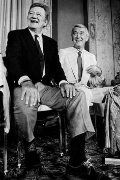 John Wayne and Jimmy Stewart, 1972