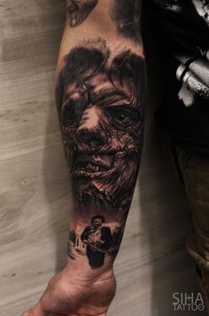 Leatherface - Texas Chainsaw Massacre Tattoo - by Mocho at Siha Tattoo Barcelona