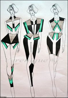... Fashion Line, Moda Fashion, Covet Fashion, Fashion Art, Fashion Design Sketchbook, Fashion Design Drawings, Fashion Sketches, Fashion Illustration Dresses, Fashion Illustrations