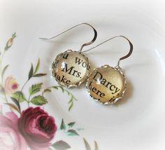 Jane Austen earrings