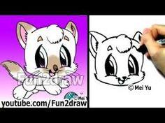 Image of: Arctic Fox Stepbystep fun2draw Draw Cute Baby Animals Draw Animals Unixtitan 208 Best Fun2draw Images Learn Drawing Animal Drawings Kawaii